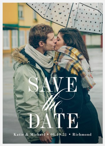 Sheer Elegance Save the Date Photo Cards