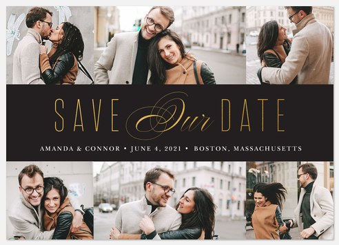 Elegant Date Save the Date Photo Cards