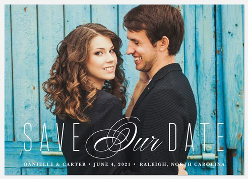 Exquisite Happiness  Save the Date Photo Cards
