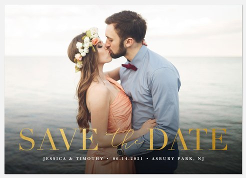 Marvelous Date Save the Date Photo Cards