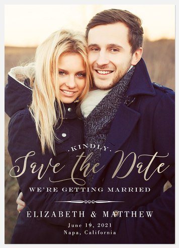 Classically Us Save the Date Photo Cards