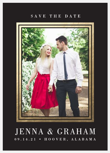 Luxe Frame  Save the Date Photo Cards