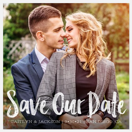 Artistic Finesse Save the Date Photo Cards