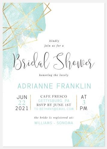 Gilded Geo Bridal Shower Invitations