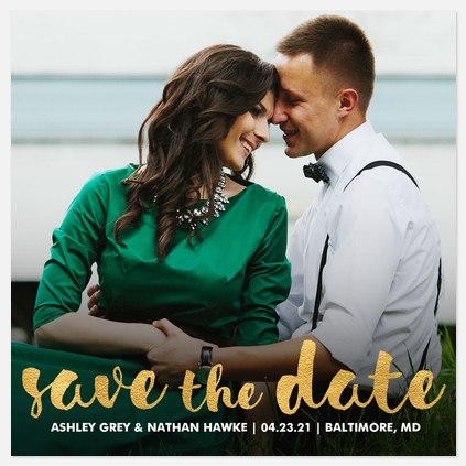 Captivating Glow Save the Date Photo Cards