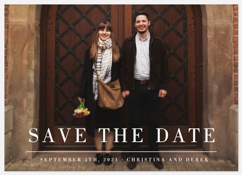 Metropolitan Design Save the Date Photo Cards