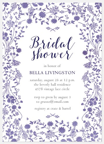 Floral Vines Bridal Shower Invitations