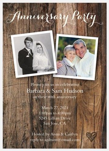 Rustic Anniversary Anniversary Invitations