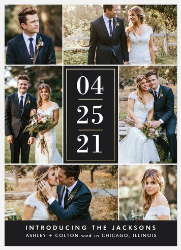 Date Collage Wedding Announcements