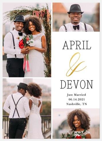 Elegant Ampersand Wedding Announcements
