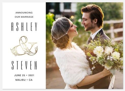 Opulent Ampersand Wedding Announcements