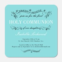 First Communion Invitations  - Flowering Trellis