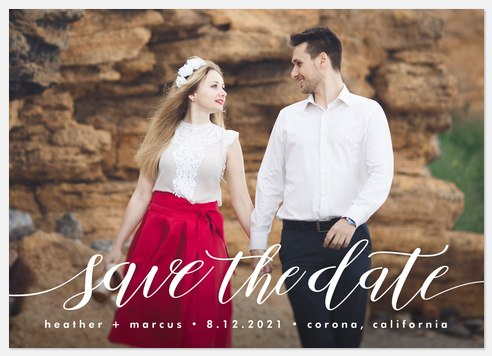 Grand Declaration Save the Date Photo Cards