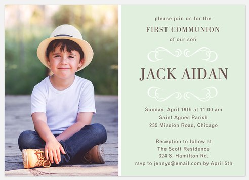 Grand Blessing First Communion Invitations
