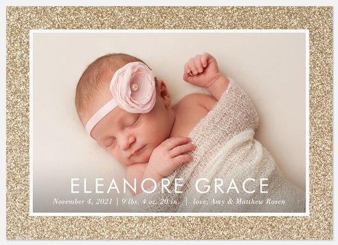 Glitter Sparkle Baby Birth Announcements