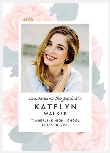 Spring Bouquet Graduation Cards