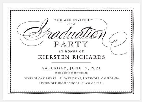 Formal Invitation Graduation Cards