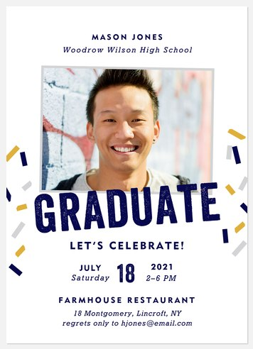 Celebration Sprinkles Graduation Cards