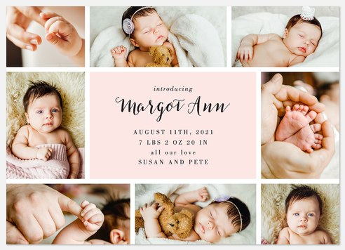 Greatest Treasure Baby Birth Announcements
