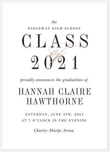 Simple Class Graduation Cards