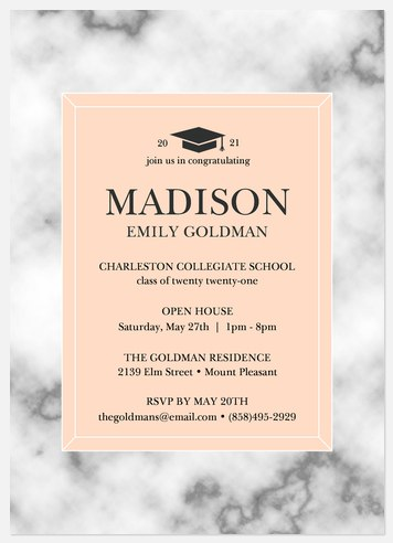 Marble Accolade Graduation Cards