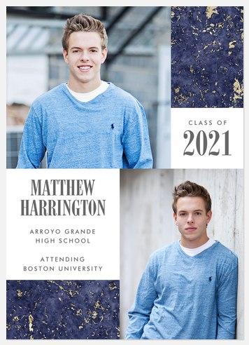 Speckled Gold Graduation Cards