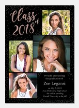 Graduation invitations photoaffections shimmering class filmwisefo