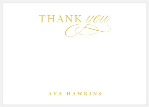 Chic Class Thank You Cards
