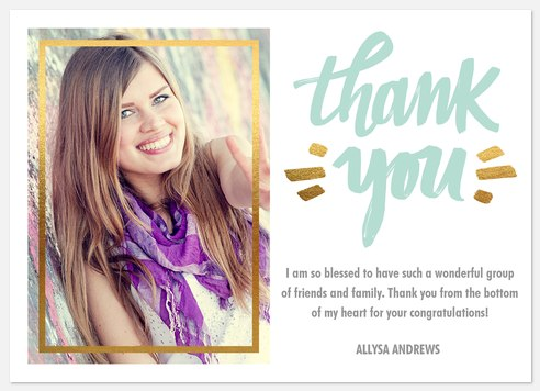 Brushed Lettering Thank You Cards