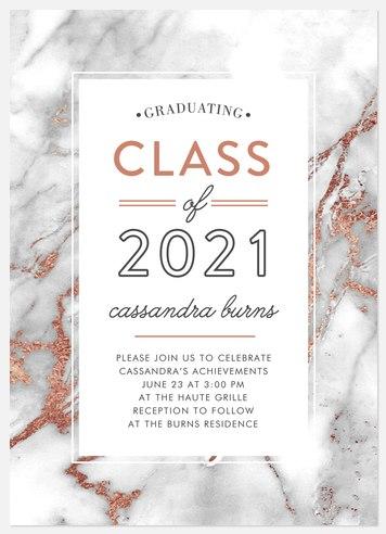 Marbled Frame Graduation Cards