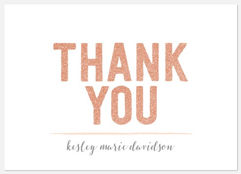 Glimmering Graduate Thank You Cards