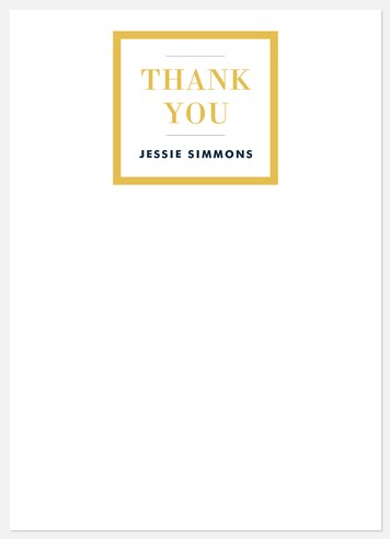 Classic Simplicity Thank You Cards