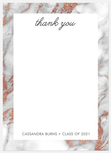 Marbled Frame Thank You Cards