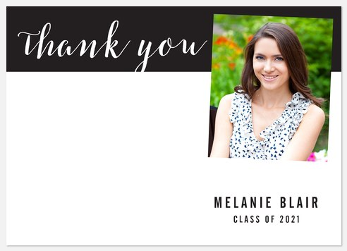 Modern Calligraphy Thank You Cards