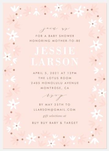 Retro Flora Baby Shower Invitations