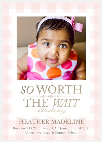 Adored Arrival Baby Birth Announcements