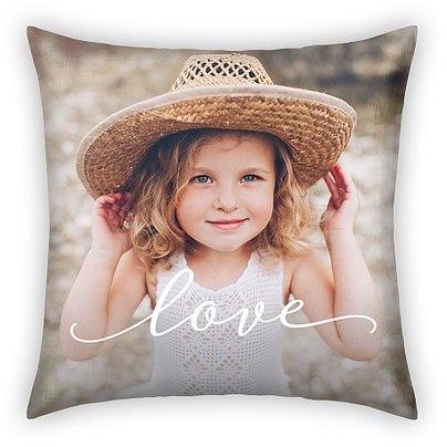 Elegant Script Custom Pillows