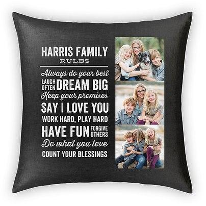 Family Rules Custom Pillows