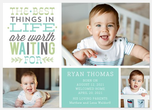 Worthwhile Delivery Baby Birth Announcements