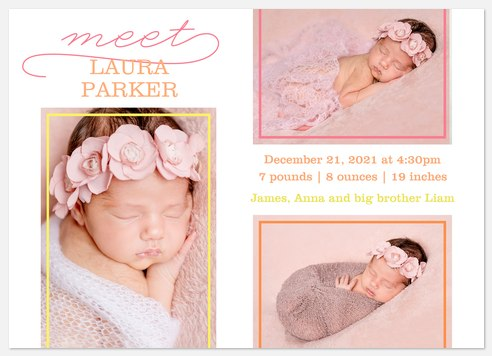 Lovely Gallery Baby Birth Announcements