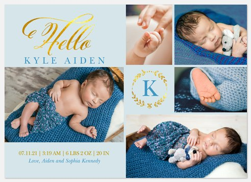 Brightest Treasure Baby Birth Announcements