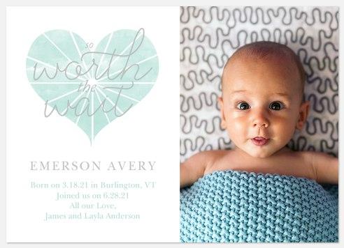 HeartBurst Baby Birth Announcements