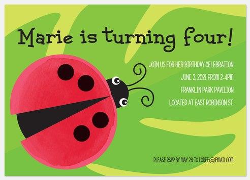 Little Lovebug Kids' Birthday Invitations