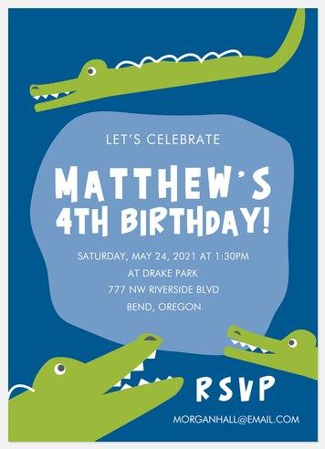 Chomp-tacular! Kids' Birthday Invitations