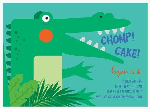 Cake Chomp Kids Birthday Invitations