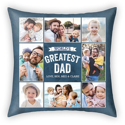 A Father's Greatness Custom Pillows