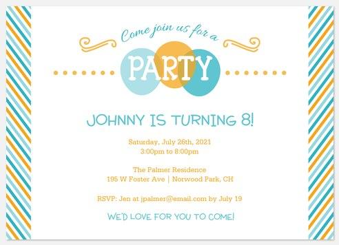 Fun-tastic! Kids' Birthday Invitations