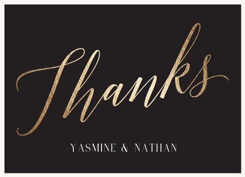 Thank You Cards , Gilded Love Design
