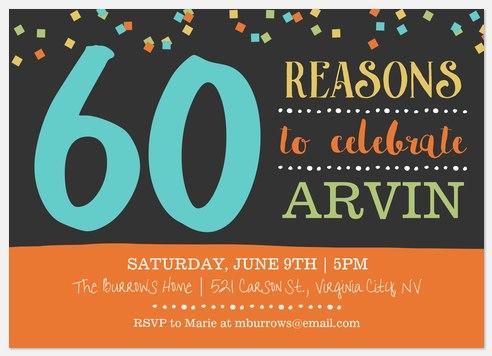 Festive Reasons Adult Birthday Invitations