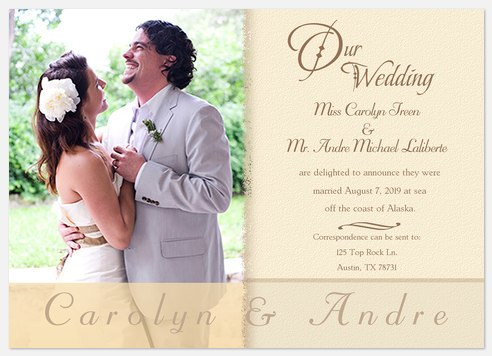 Calligraphy Wedding Announcements